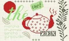 grille point de croix gratuit, point de croix, cross stitch free, thé broderie, point de croix the